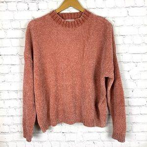 FOR THE REPUBLIC Chenille Peach Sweater M